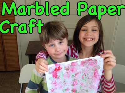 Make Your Own Marbled Paper - Paper Craft for Kids