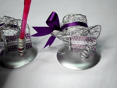 Metal Wire Crafted Lady's Hat party favors for Wedding, Debut, birthday