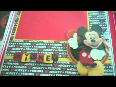 Mickey Mouse Scrapbook For Carson's Teacher
