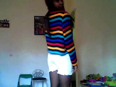 OOTD *color blazer, shorts, cute tights*