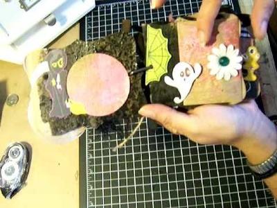Scrapbooking EM paper Halloween Mini