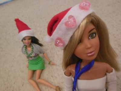 How To Make a Doll Santa Hat. Elf Hat