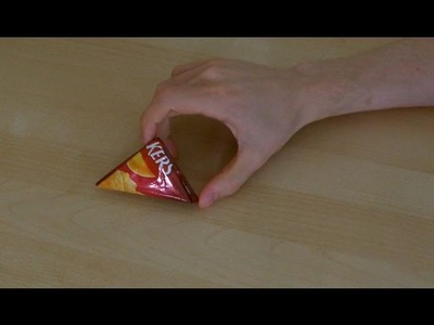 How To Make A Triangle From A Crisp.Chip Packet (HD)