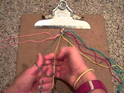How to make friendship bracelets: what looks like a five color braid