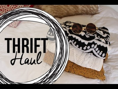 Thrift Haul + Lookbook