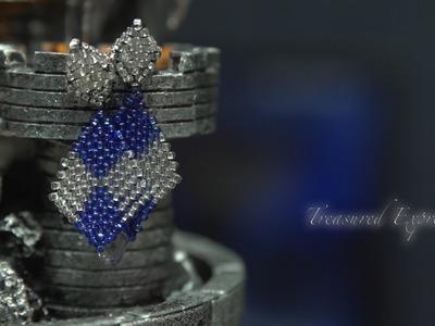 Brickstitch Diamond  Pattern Earrings