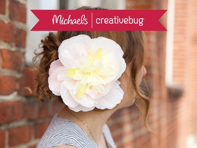 How To Make A Paper Flower Hair Clip | Class Preview
