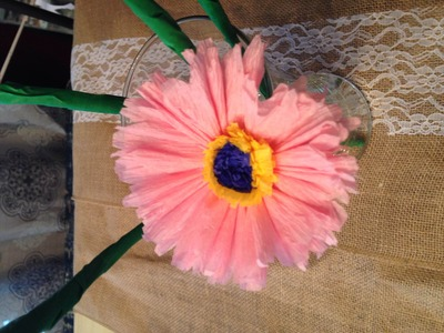 How to make Crepe paper flower tutorial