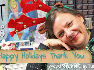 Polymer Clay Tutor Happy Holidays Best Wishes