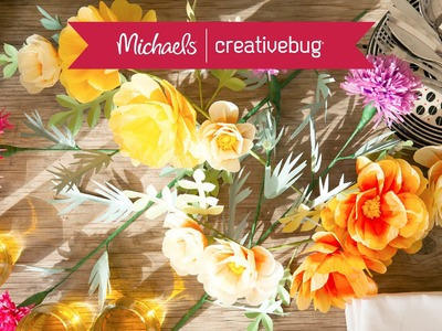 Rose &Thistle Paper Flower Centerpiece l Class Preview