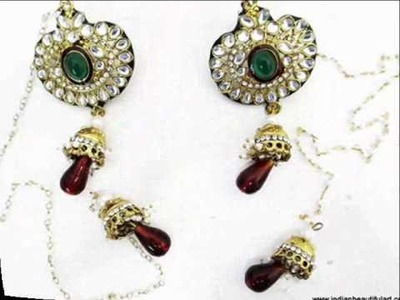 Stylish Traditional Indian Wear Earrings Jewelry From India