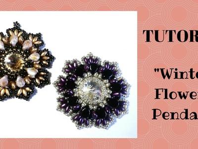 """Tutorial: come realizzare un ciondolo """"Winter Flower"""" con le pip"""