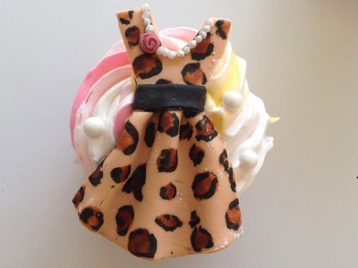 Vintage Dress Cupcakes (Leopard Print) | A Cupcake Tutorial