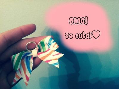 DIY: Keychain ribbon bow♡