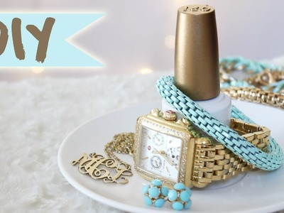 DIY Nail Polish Bottle Jewelry Organizer