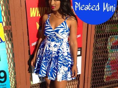 DIY: Pleated Mini Dress