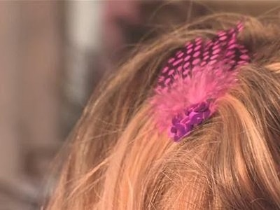 How to make hair clips for a baby