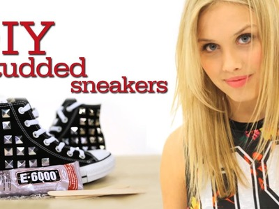 Studded sneakers DIY with TheGracieDzienny #17Daily