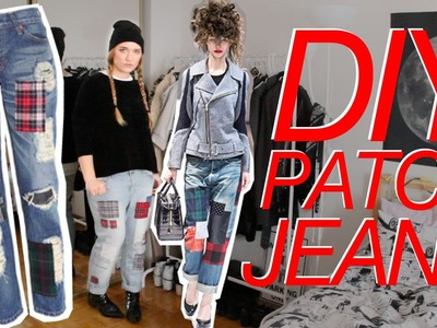 12 DAYS OF DIY | Patch Jeans inspired by Junya Watanabe