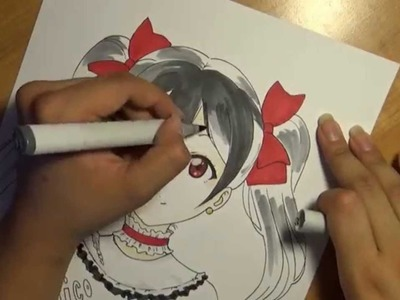 Drawing Yazawa Nico from the Anime: Love Live! School Idol Project