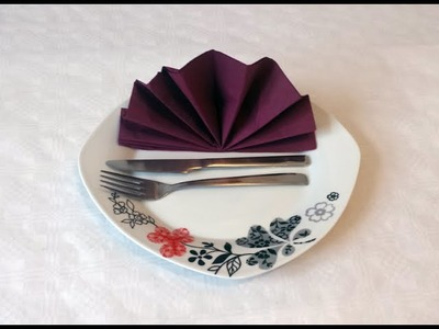 How to do paper napkin folding 05