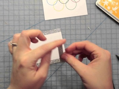 How to make a card from start to finish with an Olympic theme! { Lawn Fawn }