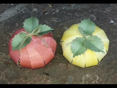 Quick and Easy Paper Pumpkin