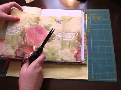 Using napkins and tissue paper in my Fauxbonichi. Hobonichi journal