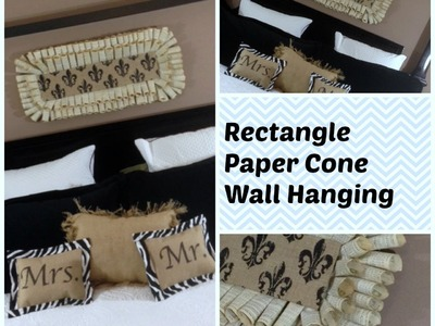 A Paper Cone Rectangle Shaped Wreath or Wall Hanging