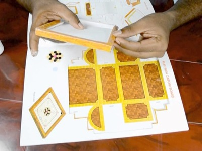 Amazing Carrom Board Paper Work Tutorial - Baby Videos Now