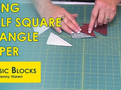 Half Square Triangles with Triangle Paper