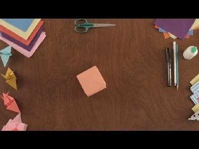How to Fold a Paper Cube : Paper Art Projects