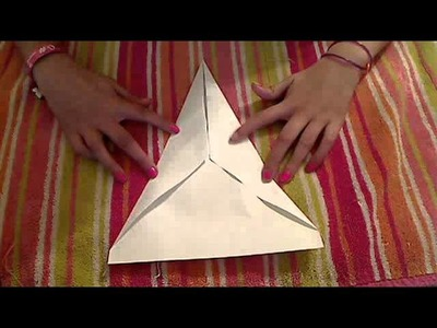 How to make a fast flying paper airplane