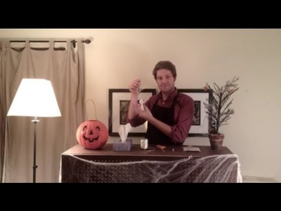 How to Make a Haunted Tissue Paper Ghost