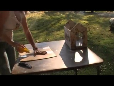 How to Make A Paper Mache Church for Christmas