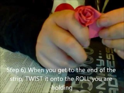 How to make a rose using paper