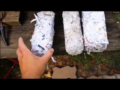 How to Make Paper Bricks With Shredded Paper