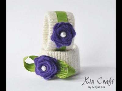 Napkin Ring made from Toilet paper roll - Useful Upcycling # 1