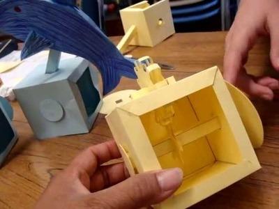 Paper Automata (AKA Paper Gears : Japanese Karakuri)