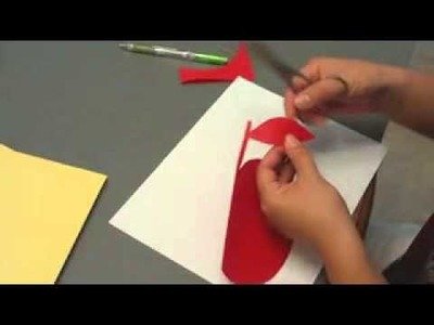 Paper Cutting How-To (3) How to cut an apple