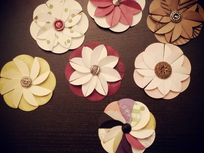 Paper Flower from Circle Punch