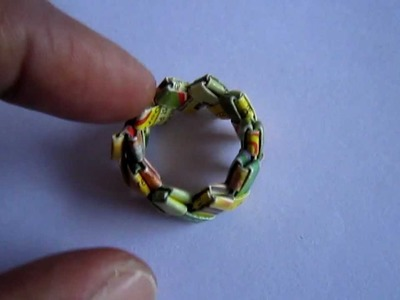 Paper Jewelry - Handmade Candywrap Ring
