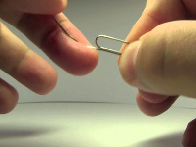 Physics 5 - straightening of paper-clip