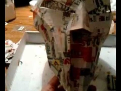 SWTOR: Sith Acolyte Cosplay Mask Tutorial pt 7 (More Paper Mache)
