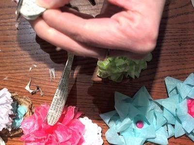 Tissue Paper Flower Ideas for Swap @ YPP
