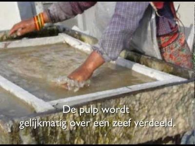 Lokta paper production process, Nepal