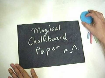 Magical Chalkboard Paper