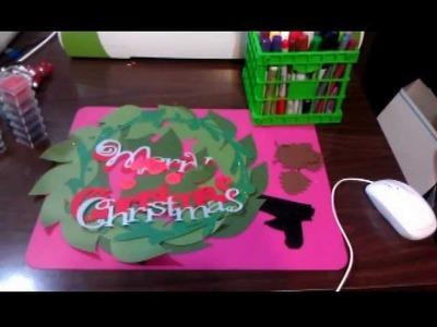 Paper Christmas Wreath part 1