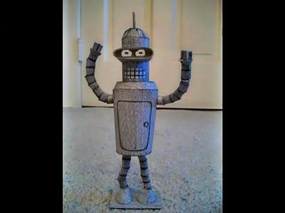 Paper Model of Bender the Robot (Futurama)