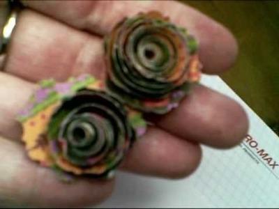 Spiral paper flower